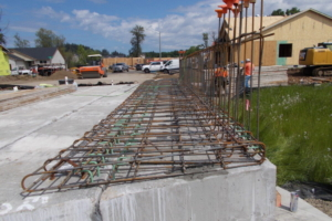 Sidewalk and Rail Rebar