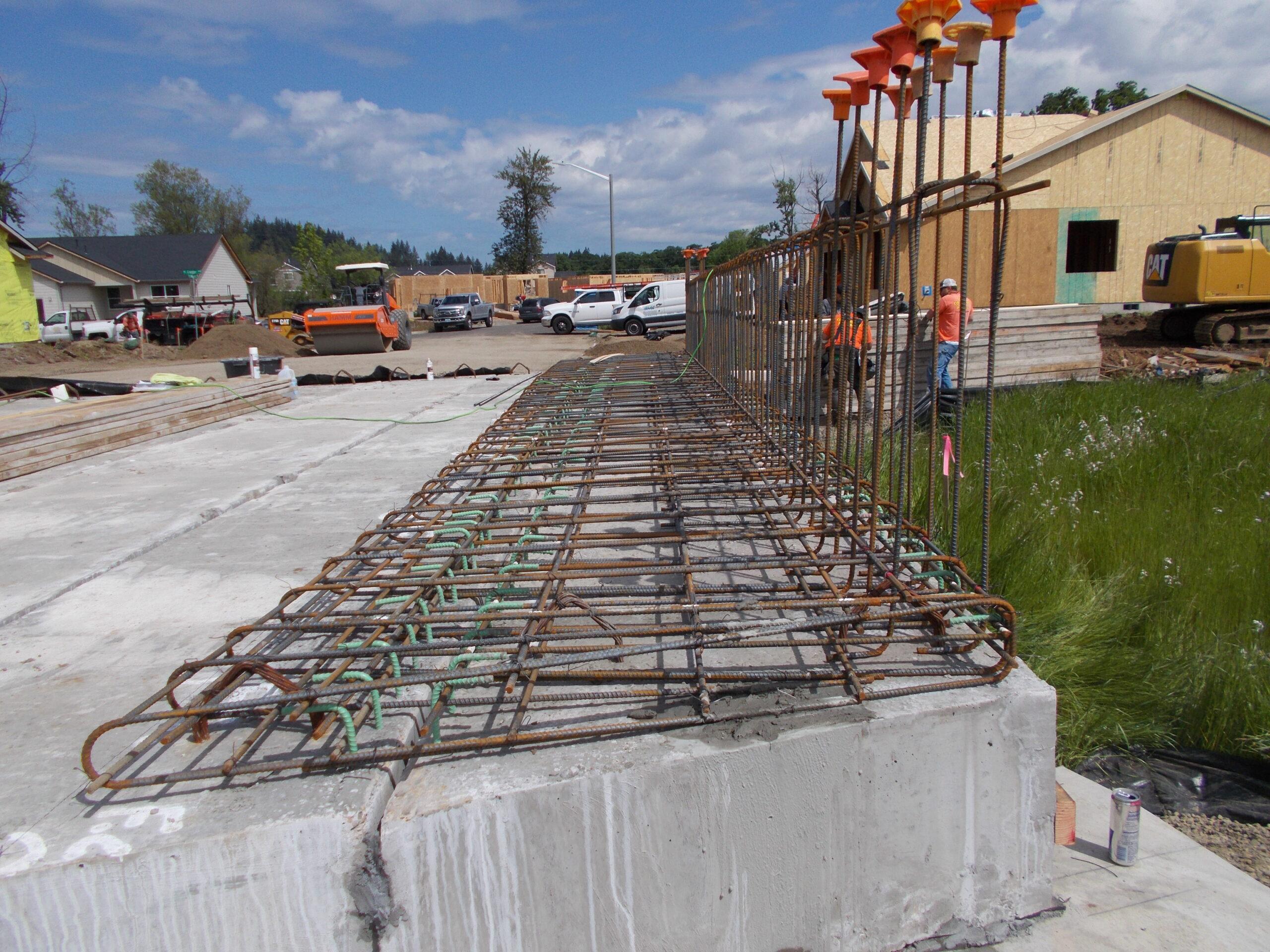 Sidewalk and Rail Rebar