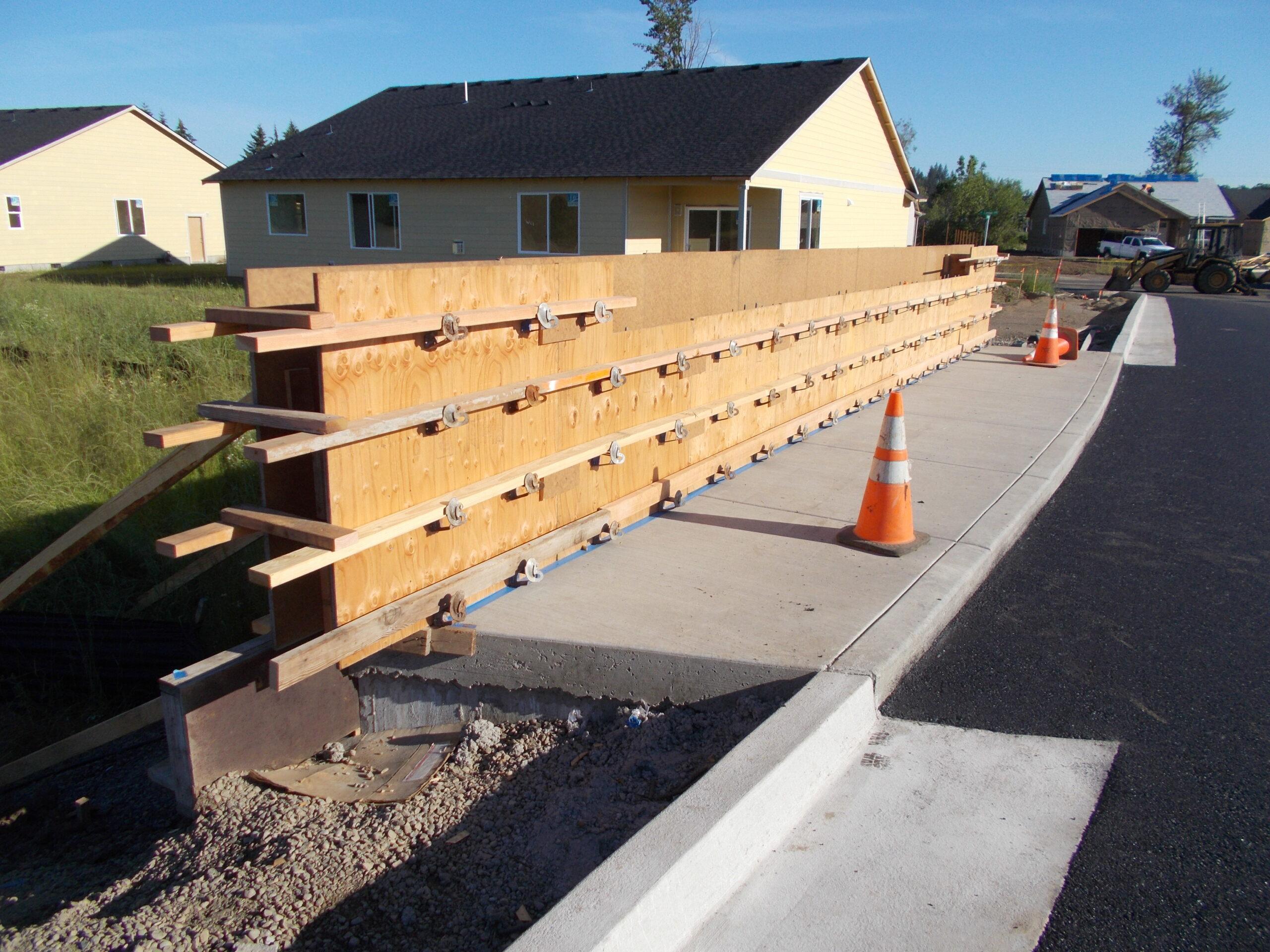 Forming for Bridge Rail