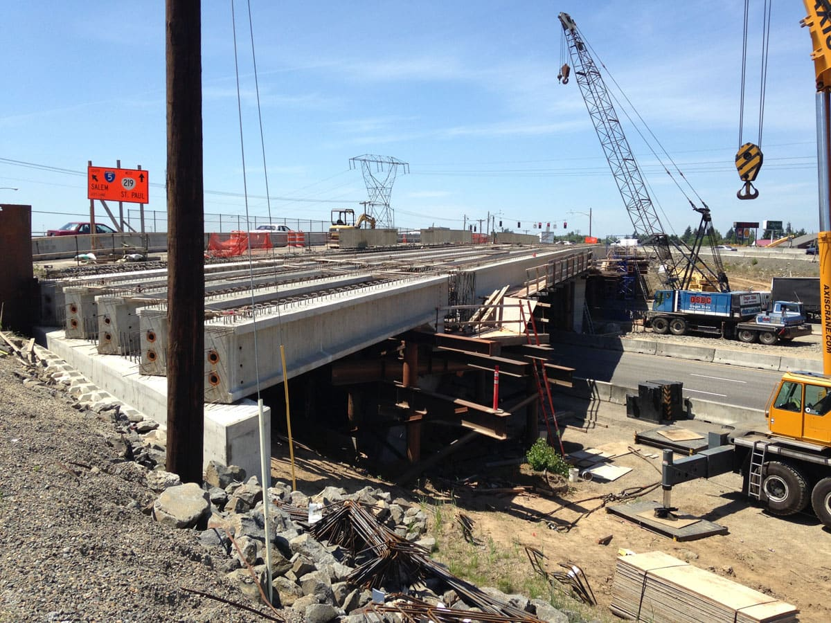 OR214 at Woodburn I-5 Overpass Widening