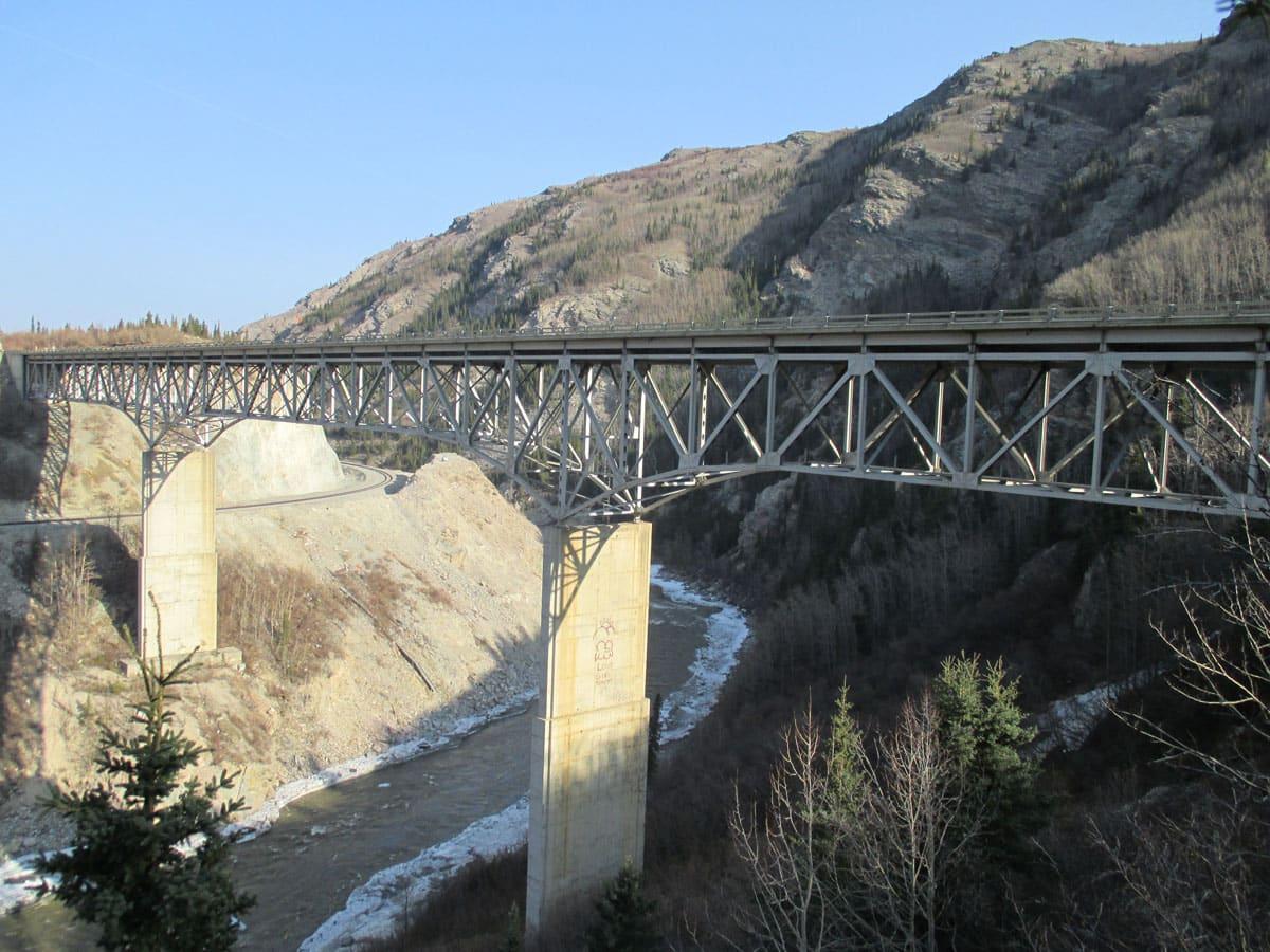 Nenana River Bridge at Moody Bearing Replacement