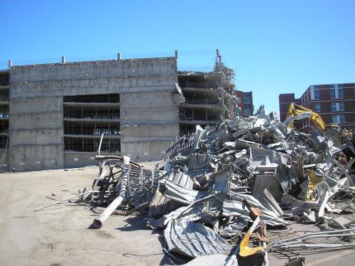 Salem Hospital Parking Garage Demolition