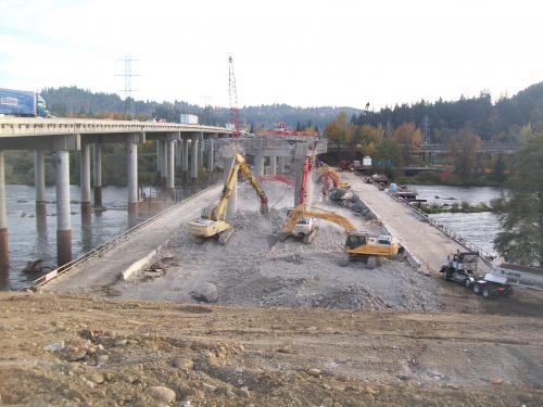 I-5 Willamette River Bridge Demolition (Eugene, OR)